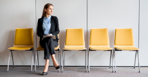 Candidate waiting for interview